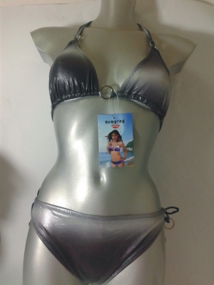 SWIMSUIT BIKINI METAL SILVER SEA 40 - 42 XS - S