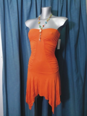 VESTITO ORANGE ASIMMETRICO MIS. UNICA